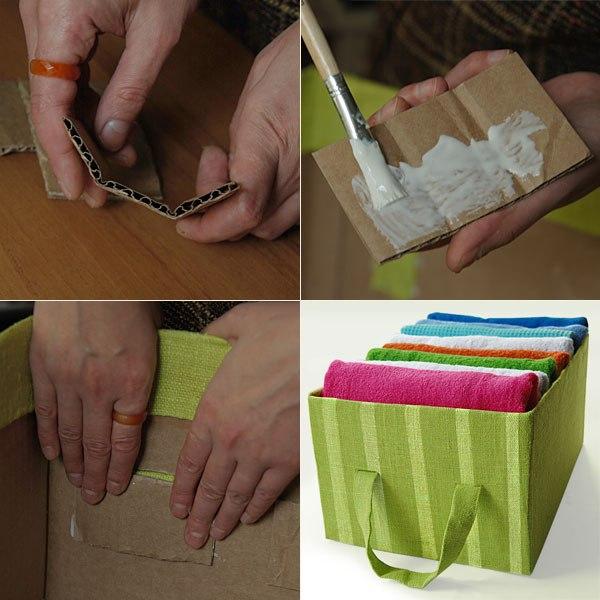 Коробка для хранения вещей своими руками из картона