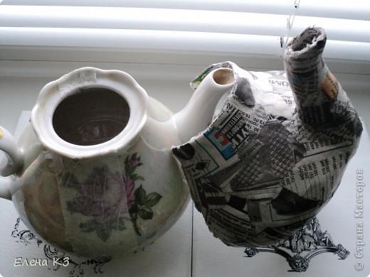 Чайник из папье-маше мастер класс