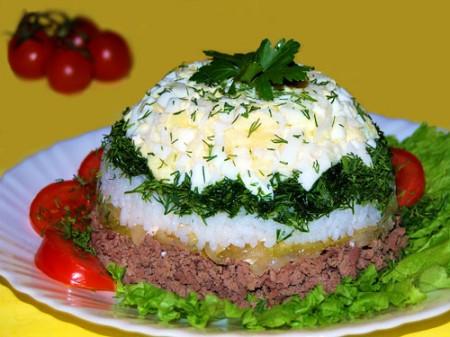 Рецепт: Печеночный салат