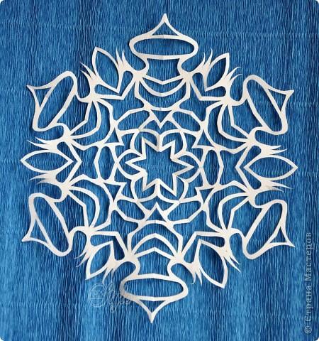 Мастер-класс Вырезание: Снежинки. МК. Часть 2. Основные принципы и правила. Бумага Новый год. Фото 8