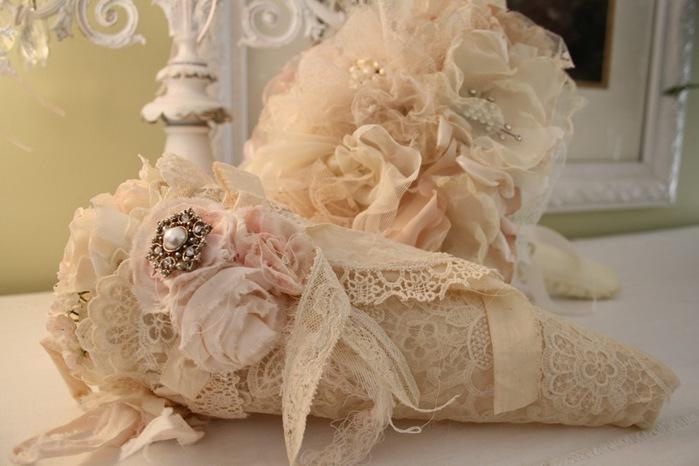Винтажный букет невесты своими руками 68