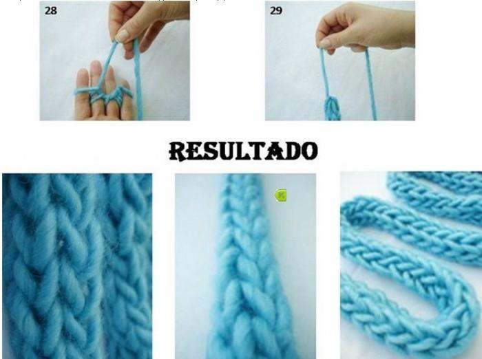 Плетение нитки на пальцах
