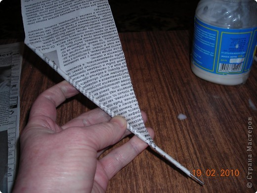 Трубочки из газет для плетения мастер класс фото