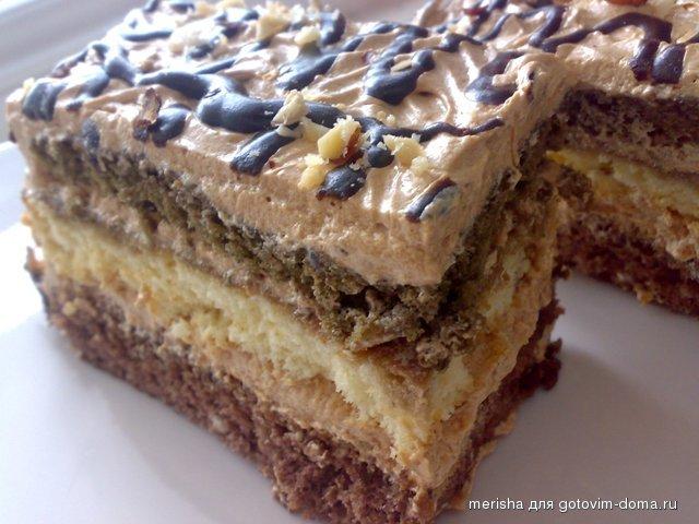 Торт с кремом шарлотт рецепт пошагово