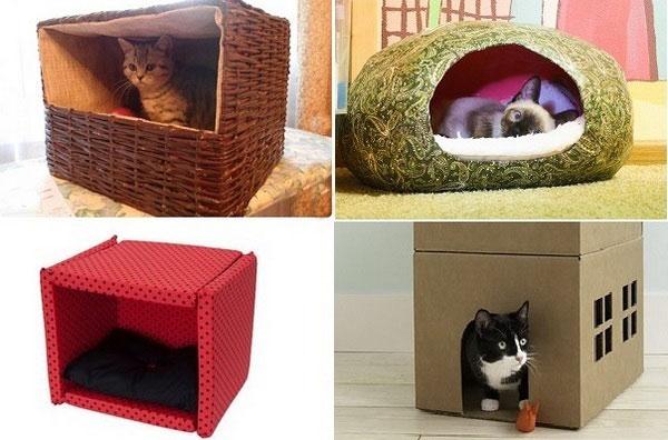 Видео как сделать домик для кошки своими руками из дерева