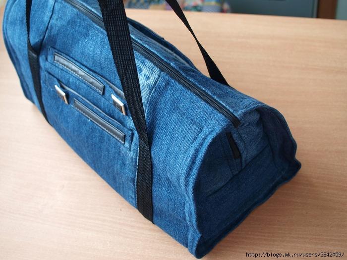 Дорожная сумка из джинс своими руками 25
