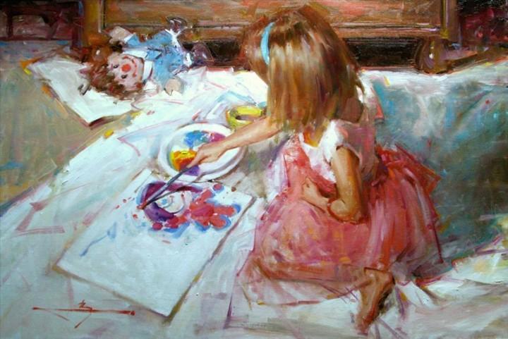 Художники рисовавшие на картинах детей