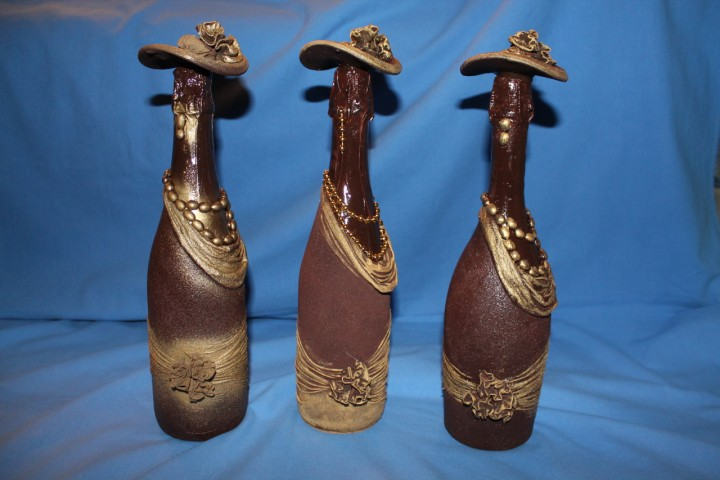 Декорирование бутылки своими руками мастер класс 85