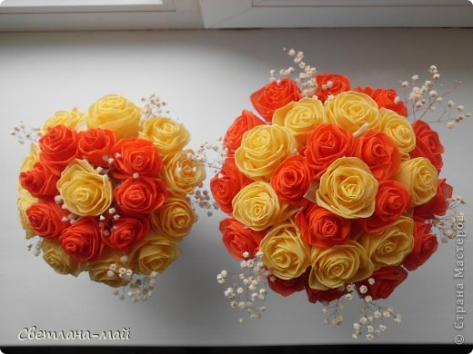 Розы с салфеток своими руками фото