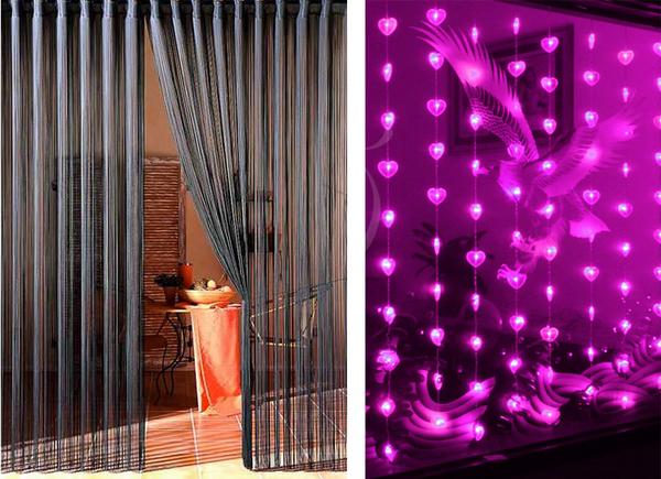 Декоративные шторы на дверной проем фото