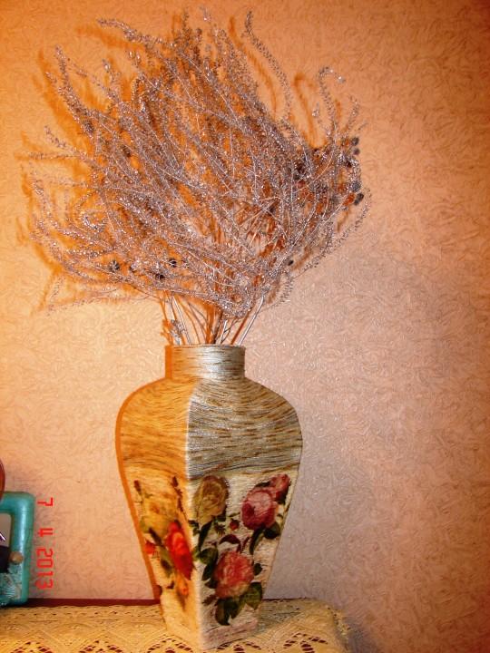 Как сделать папье маше вазу