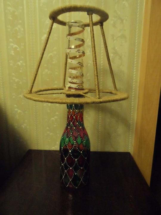 Лампа из джута