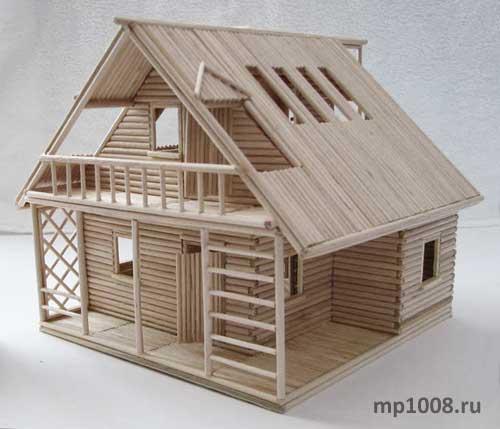 Дом из дерева своими руками мастер класс
