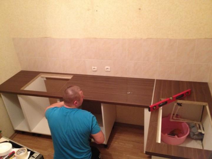 Сборка кухни в квартире своими руками