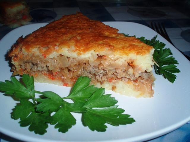 Запеканка овощная с фаршем в духовке рецепт с пошаговый