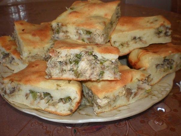 Рыбный пирог из сайры рецепт быстро 144