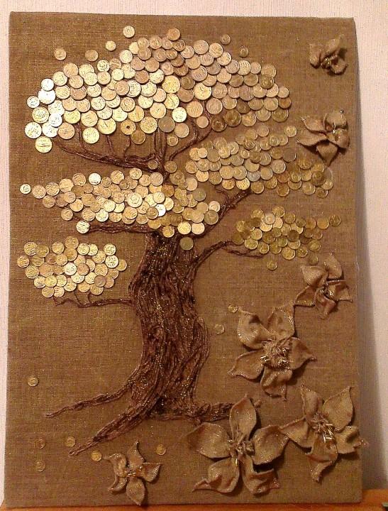 Как сделать своими руками дерево денежное