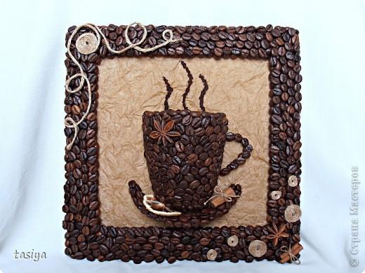 Картины из кофейных зерен на кухню своими руками