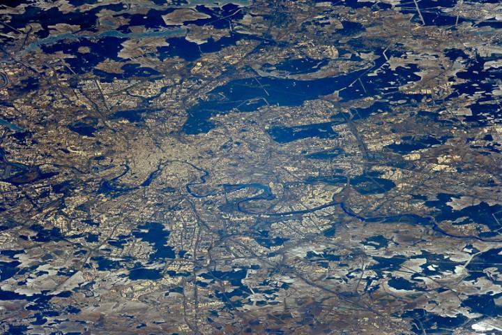 Москва и Подмосковье из космоса