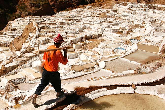 Странная красота соляных шахт
