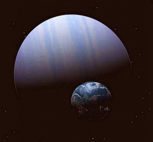 Восьмое место. Планета 55 Рака С. Это газовый гигант из планетарной системы солнцеподобной звезды 55 Рака.