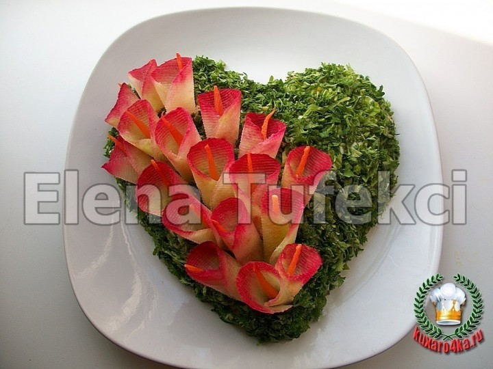 европейское украшение салатов в фото