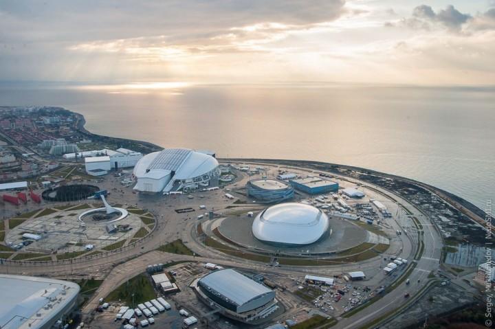 sochi31 Как выглядят Олимпийские объекты с воздуха