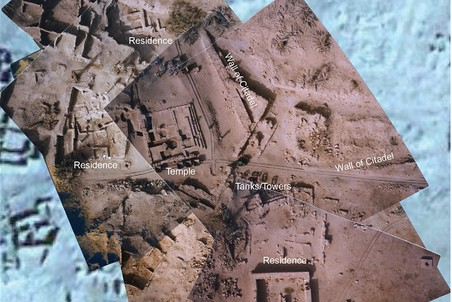 Улучшенное спутниковое изображение зданий Старой Джермы