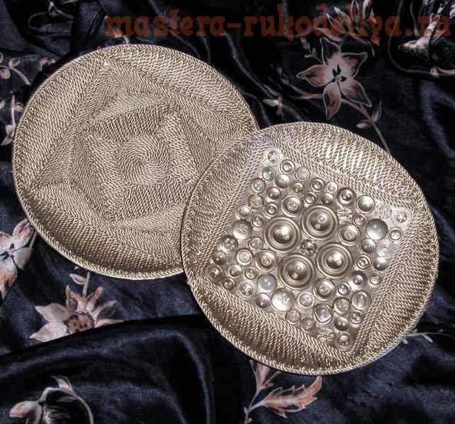 Мастер-класс: Декорирование тарелки пуговицами