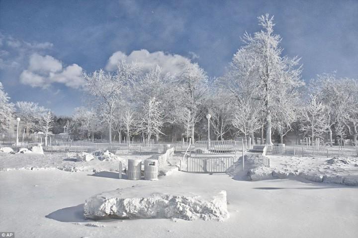 article 0 1A811A4400000578 197 964x640 Природный катаклизм недели: Впервые за 100 лет замерз Ниагарский водопад