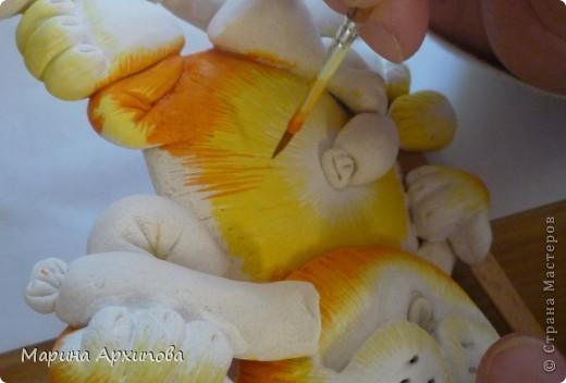 Мастер-класс Лепка Опять кот-обжорик Тесто соленое фото 18