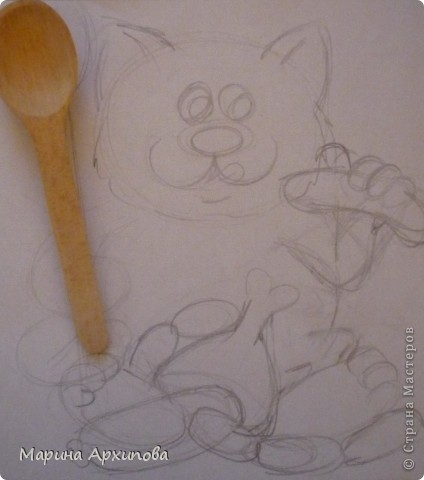 Мастер-класс Лепка Опять кот-обжорик Тесто соленое фото 2