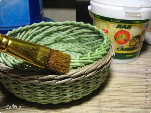 Мастер-класс Плетение МК - Шкатулка из бумаги Бумага газетная Трубочки бумажные фото 69