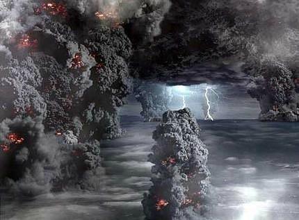 Кадр из фильма ВВС: СУПЕРВУЛКАН