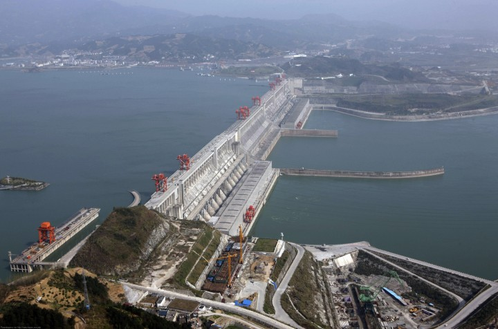 File photo of the Three Gorges Dam