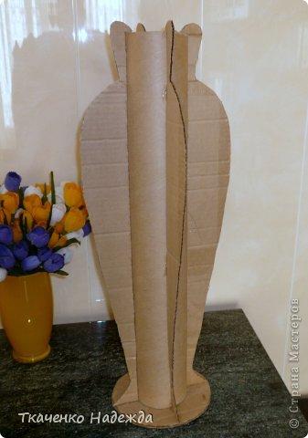 Большая напольная ваза своими руками