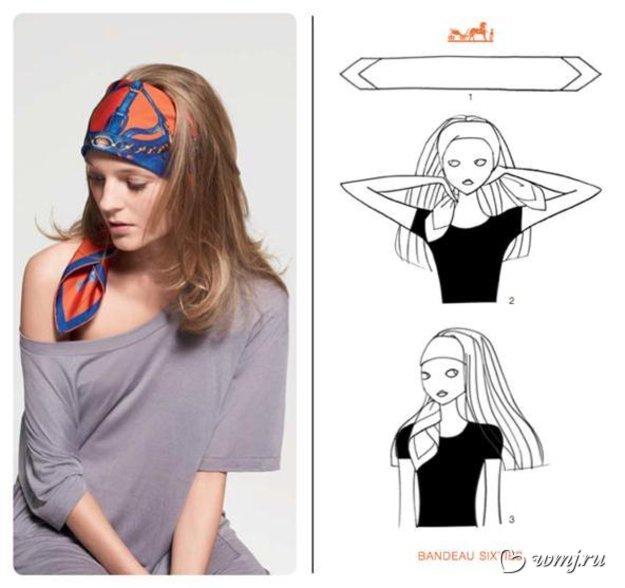 Как повязывать платок на голову