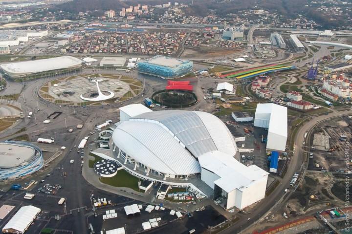 sochi44 Как выглядят Олимпийские объекты с воздуха