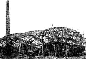 сетчатые шатровые навесы Нижегородской выставки (1896 год), Шухов