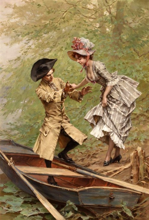 Frederik-Hendrik-Kaemmerer-Dutch-artist-1839-1902-Boating-Party.