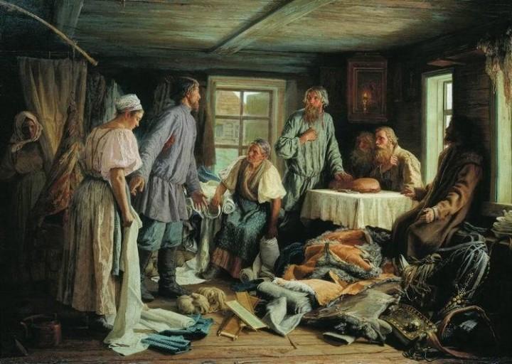 Василий Максимов. Семейный раздел, 1876