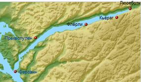 Карта Люсе-фьорда