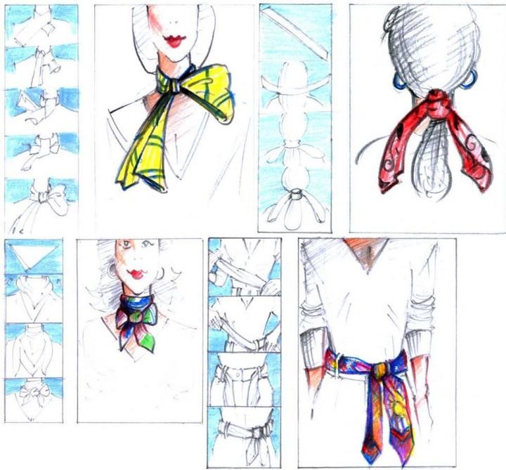 Как красиво завязать шарф картинки по шагу, днем рождения красивые
