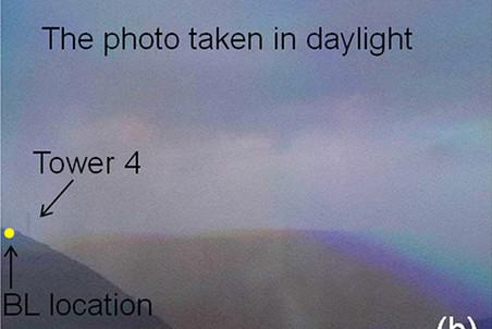 снимок, на который попала шаровая молния