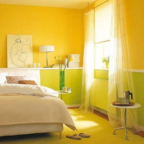 желтые обои для комнаты фото 8553