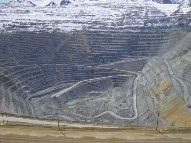 Карьер Kennecott Bingham Canyon Mine, штат Юта.